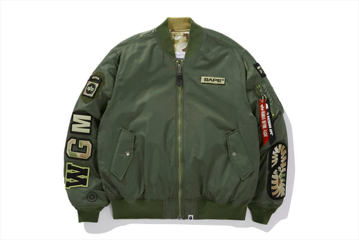 【 BAPE X ALPHA INDUSTRIES 】REVERSIBLE MA-1