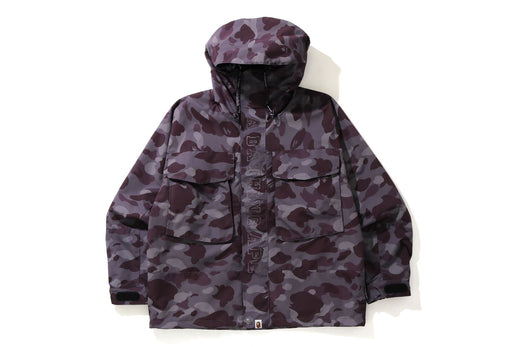 COLOR CAMO LOOSE FIT HOODIE JACKET