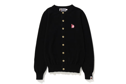 APE HEAD B PATCH KNIT CARDIGAN
