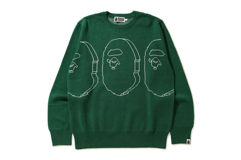 APE HEADS WIDE FIT KNIT
