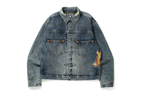 TIGER HEAVY WASH MINER DENIM JACKET