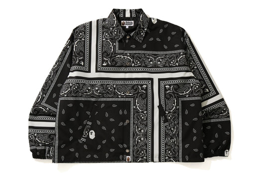 BANDANA PRINT RELAXED COACH JACKET