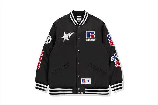 【 BAPE X RUSSELL 】COLLEGE VARSITY JACKET