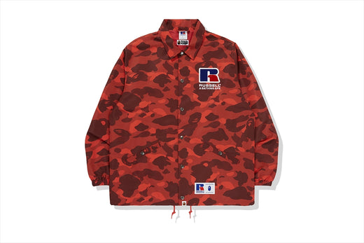 【 BAPE X RUSSELL 】COLOR CAMO COLLEGE COACH JACKET