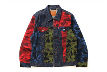 【 BAPE X LEVI'S 】MULTICOLOR CAMO  TRUCKER JACKET
