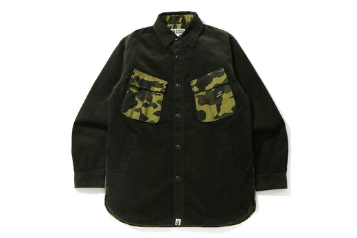 1ST CAMO CORDUROY RELAXED SHIRT JACKET