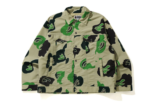 DEF CAMO LOOSE FIT TRUCKER JACKET
