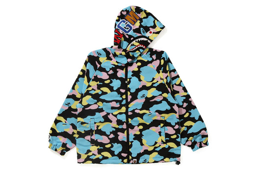 NEW MULTI CAMO SHARK OVERSIZED HOODIE JACKET