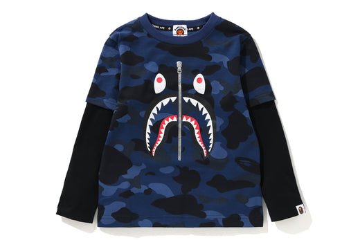 COLOR CAMO SHARK LAYERED L/S TEE