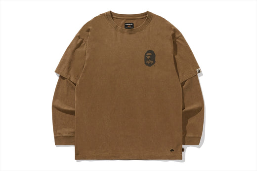 【 BAPE X ALPHA INDUSTRIES 】LAYERED L/S TEE