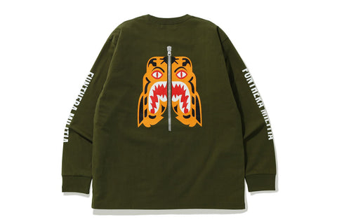 RELAXED FIT TIGER L/S TEE