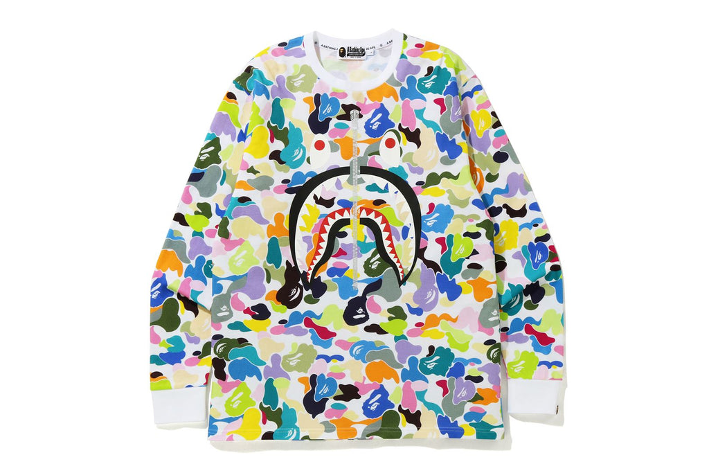 MULTI CAMO SHARK WIDE FIT L/S TEE
