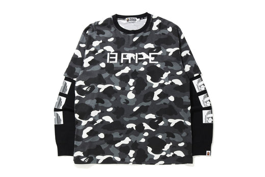 RELAXED FIT CITY CAMO LAYERED L/S TEE