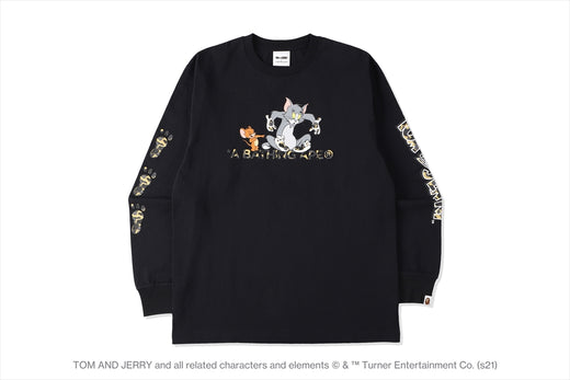 【 BAPE X TOM AND JERRY 】FOOTPRINTS MADISON AVENUE L/S TEE