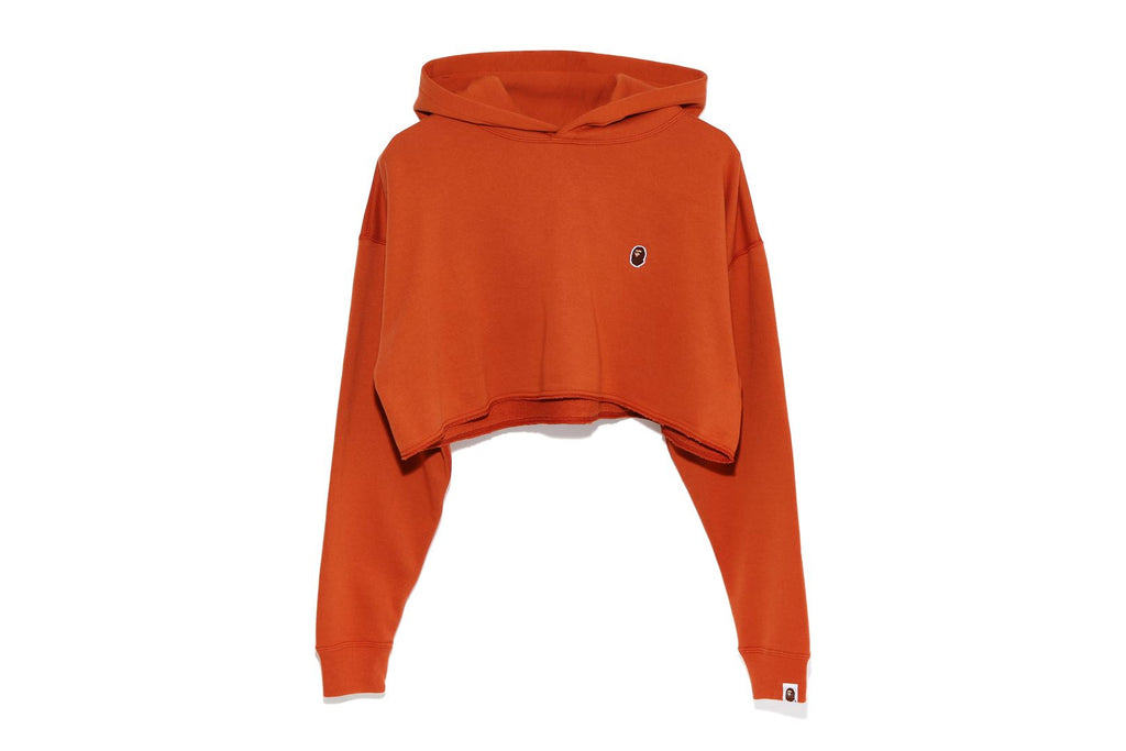 APE HEAD ONE POINT CROPPED PULLOVER HOODIE
