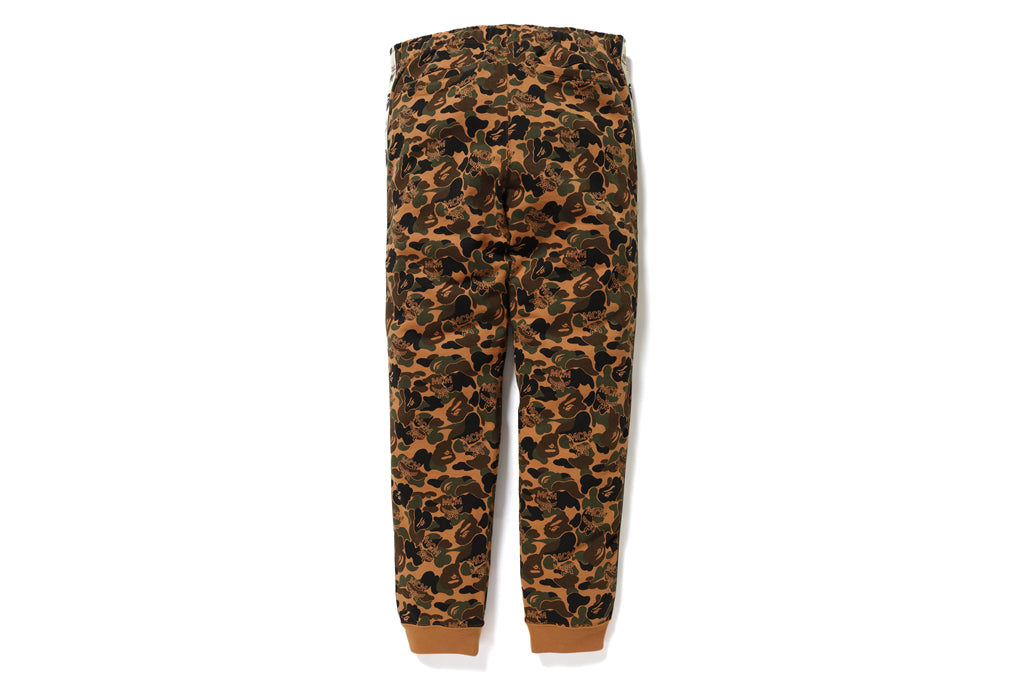 【 BAPE X MCM 】CAMO SLIM SWEAT PANTS