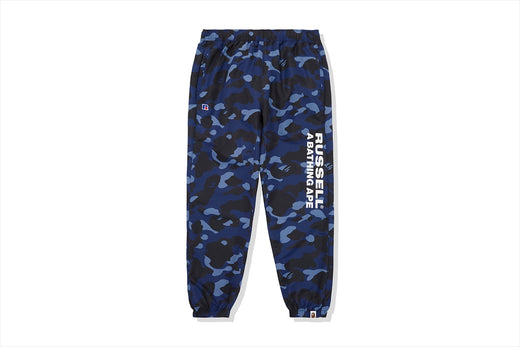 【 BAPE X RUSSELL 】COLOR CAMO TRACK PANTS