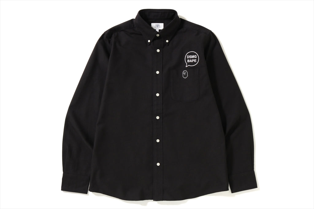 【 BAPE X DSMG 】OXFORD BD SHIRT