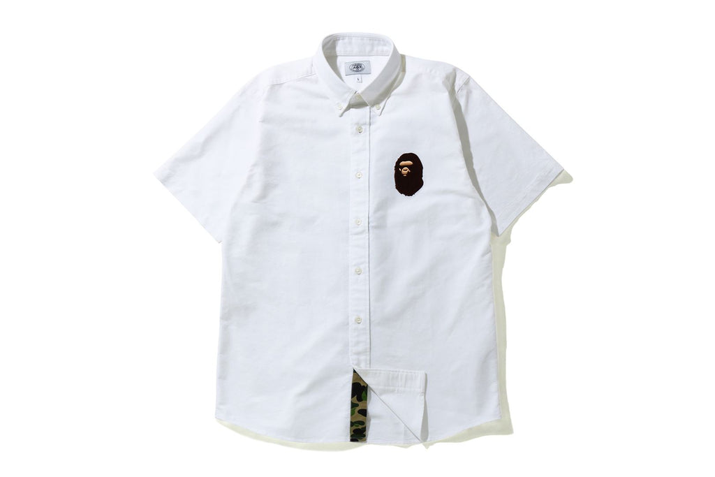 LARGE APE HEAD OXFORD BD S/S SHIRT