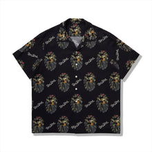 【 BAPE BLACK 】FLORAL MAD FACE HAWAII SHIRT