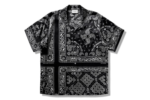【 BAPE BLACK 】BANDANA HAWAII SHIRT