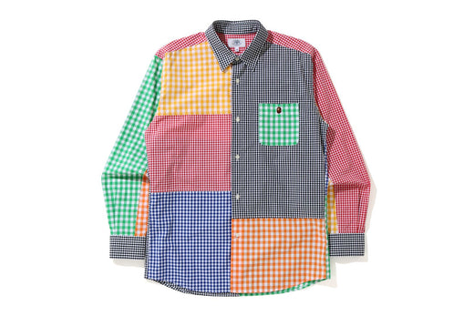 GINGHAM CHECK MULTI PATTERN SHIRT