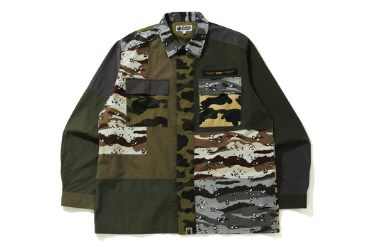 CRAZY CAMO RELAXED MILITARY SHIRT