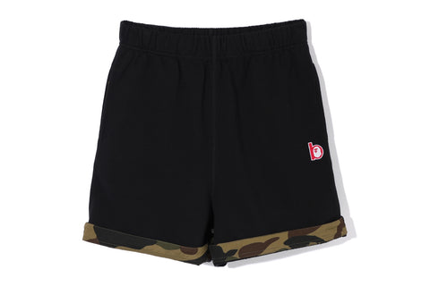 APE HEAD B PATCH RELAXED SHORTS
