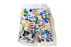 MULTI CAMO SWEAT SHORTS