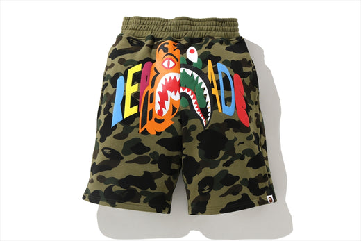 【 BAPE X READYMADE 】TIGER SHARK WIDE SWEAT SHORTS