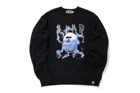 BAPE LIGHTNING RELAXED FIT CREWNECK