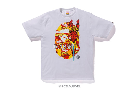 【 BAPE X MARVEL 】CAMO IRON MAN TEE