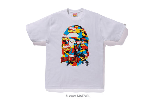 【 BAPE X MARVEL 】CAMO BLACK WIDOW TEE