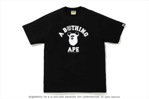 【 BAPE X MEDICOM TOY 】BE@R COLLEGE TEE