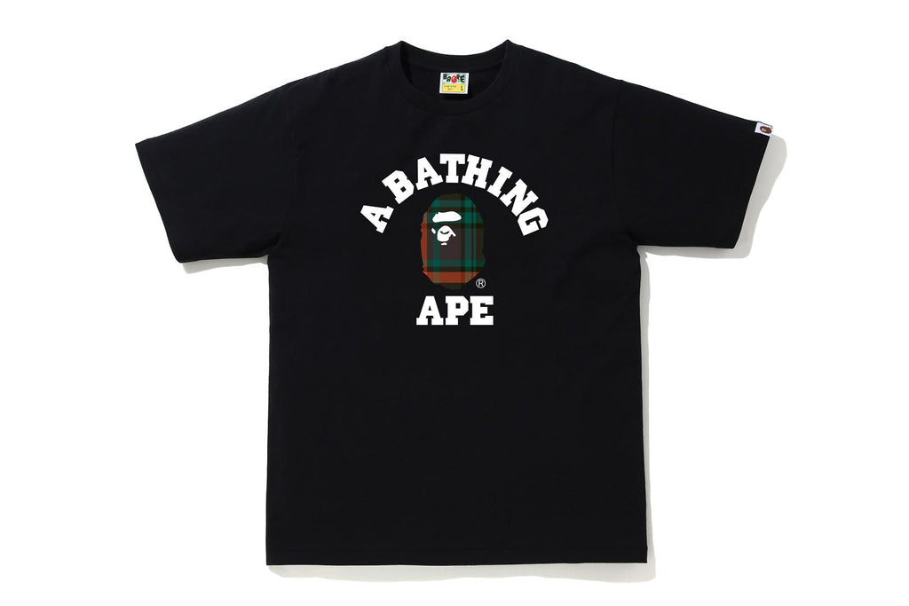 BAPE CHECK COLLEGE TEE