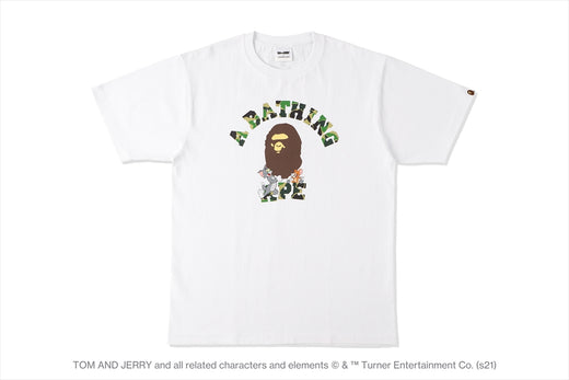 【 BAPE X TOM AND JERRY 】COLLEGE TEE