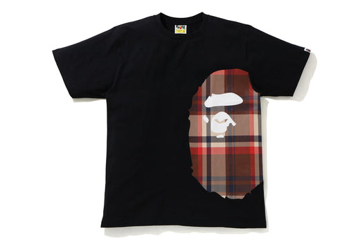 BAPE CHECK SIDE BIG APE HEAD TEE