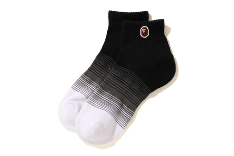 APE HEAD ONE POINT GRADATION ANKLE SOCKS