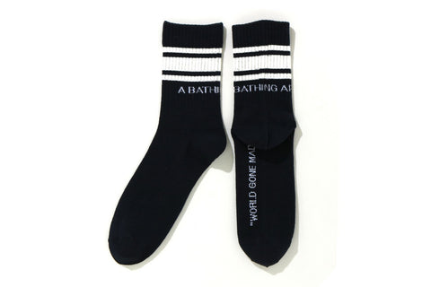 A BATHING APE LINE SOCKS