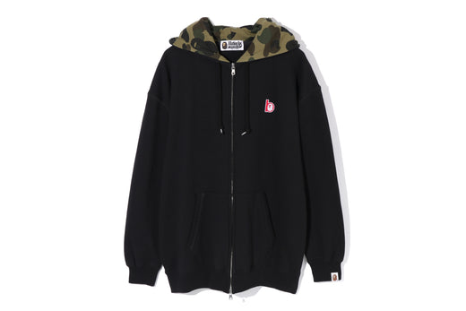 APE HEAD B PATCH OVERSIZED ZIP HOODIE