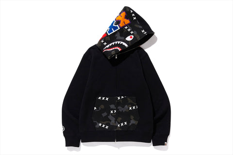 【 BAPE X GOD SELECTION XXX 】SHARK FULL ZIP HOODIE