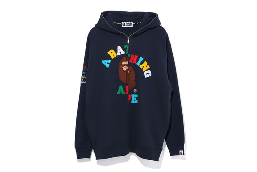 COLLEGE OVERSIZED FULL ZIP HOODIE