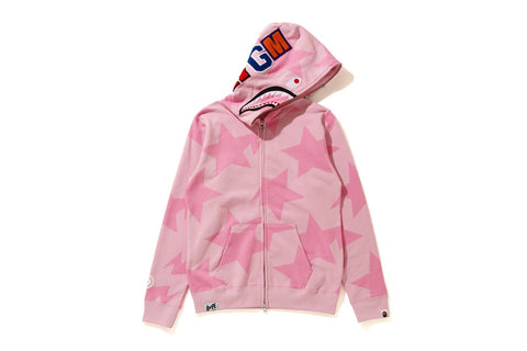 STA PATTERN SHARK FULL ZIP HOODIE