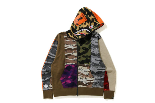 CRAZY CAMO MAD SHARK RELAXED FIT FULL ZIP HOODIE
