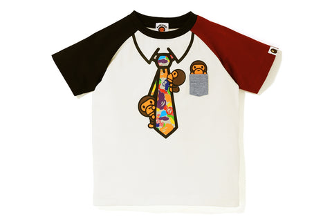 MILO ABC MULTI FAKE NECK TIE TEE