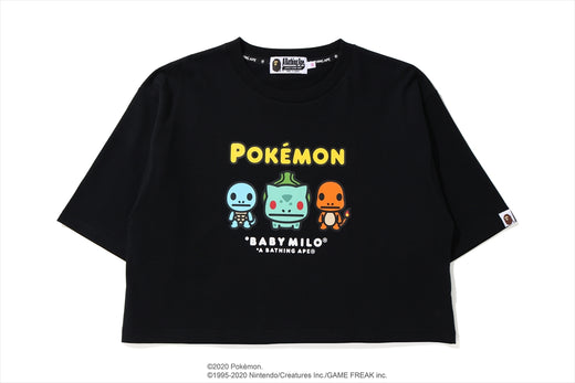【 BAPE X POKEMON 】CROPPED TEE