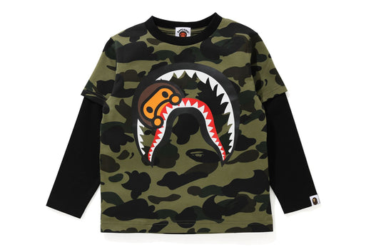 1ST CAMO MILO SHARK LAYERED L/S TEE