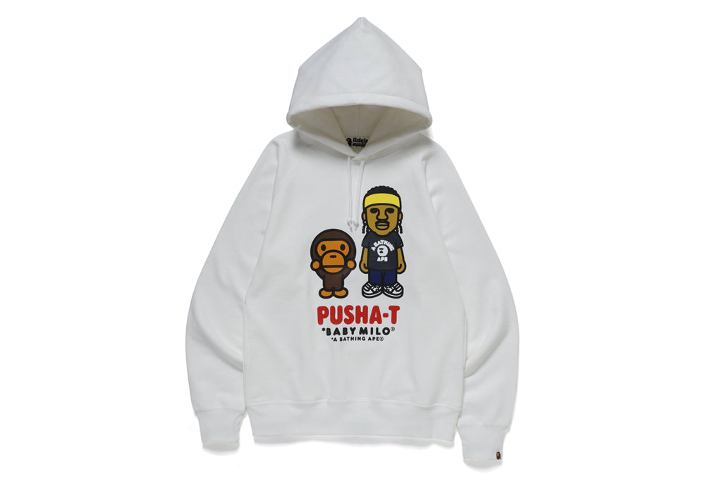 【 BAPE X PUSHA-T 】BABY MILO PULLOVER HOODIE
