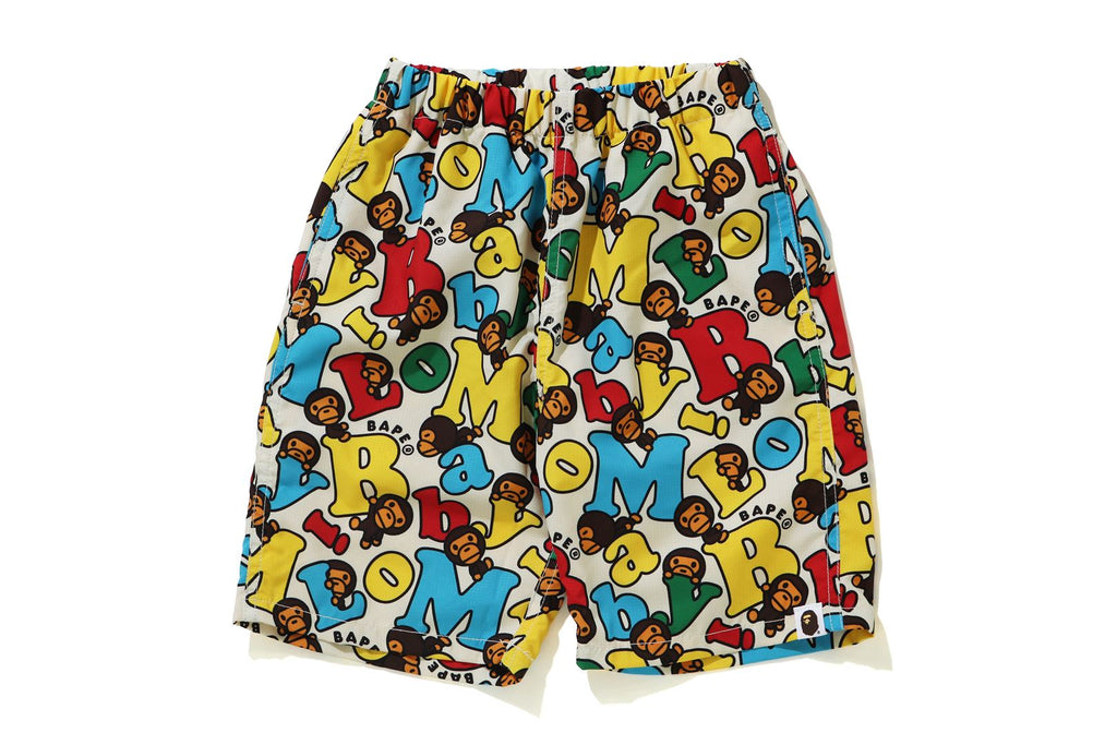 BABY MILO ALPHABET BEACH SHORTS