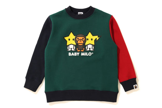 COLOR BLOCK BABY MILO CREWNECK